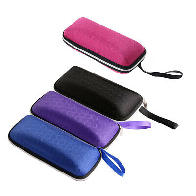 Rectangle Grid Zipper Eye Glasses Case Hard Eyewear Box Sunglasses Case Colorful