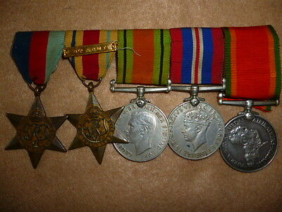 "Africa Star ""8th Army"" Clasp Named Medal Group of (5) Medals, to a Black Soldier"