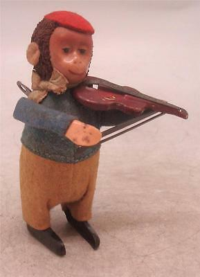 Vintage German Schuco Wind Up Monkey Playing Violin
