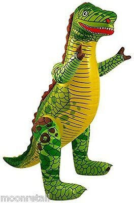 INFLATABLE DINOSAUR Blow Up Fancy Dress Jurassic Childrens Kids Party Pool Beach