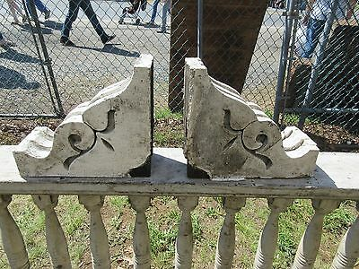 "PAIR gorgeous c1870 VICTORIAN cutout gingerbread CORBEL brackets 13"" x 11 x 5.25"