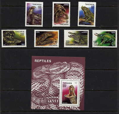 Tanzania 1993 Snakes - Reptiles Set And Sheet Mint Complete - $12.00 Value!
