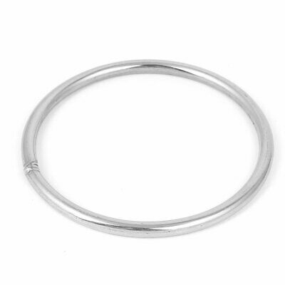 M6 x 100mm 201 Stainless Steel Webbing Strapping Welded Round O Rings