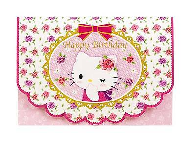 Sanrio Japan Hello Kitty 3D Flower Heart-shaped Birthday Card