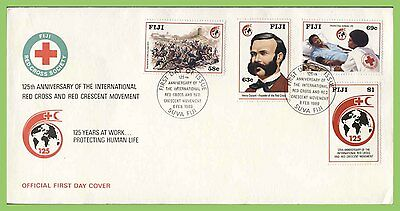 Fiji 1989 125th Anniversary of Red Cross set on First Day Cover