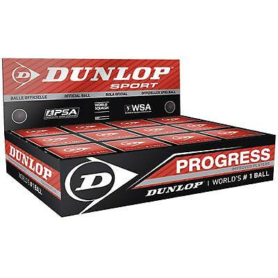 Dunlop Progress Squash Balls 1 Ball Box 12
