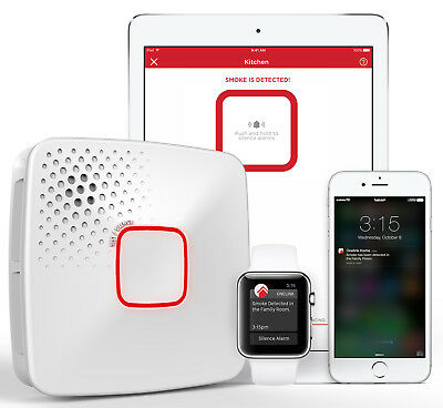 Wi-Fi Smoke + Carbon Monoxide Alarm, Battery, Apple Home Kit-Enabled