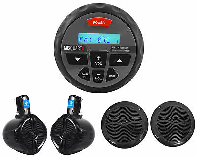 MB QUART Nautic GMR-1 Marine ATV Boat Receiver w/ Bluetooth+Wakeboards+Speakers