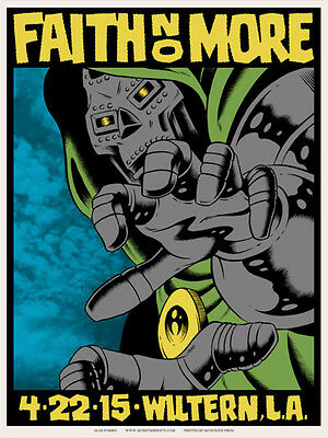 FAITH NO MORE poster Los Angeles 2015 by Alan Forbes