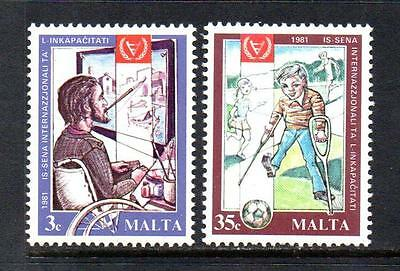 Malta Mnh 1981 Sg663-664 International Year Of The Disabled Persons Set Of 2