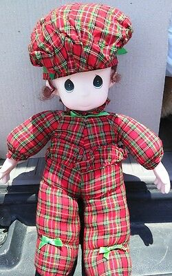 Precious Moments Soft Body Doll Holiday Brown Hair