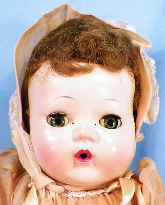 American Character Tiny Tears Doll 1950s Hard Plastic Rubber Vintage 13 in As Is