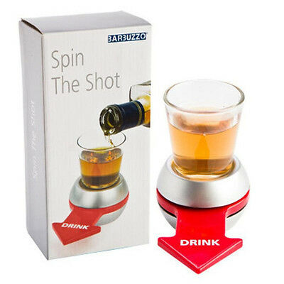 Original Spinner Spin The Shot Glass Drinking Game Fun Party Gift Included  Box