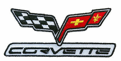 Corvette Racing  Embroidered 4 Inch Iron On Sew On Patch By Miltacusa