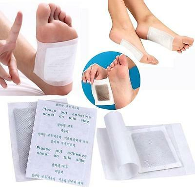 100pcs Detox Foot Pads Patch Detoxify Toxins+Adhesive Keeping Fit Health Care FA