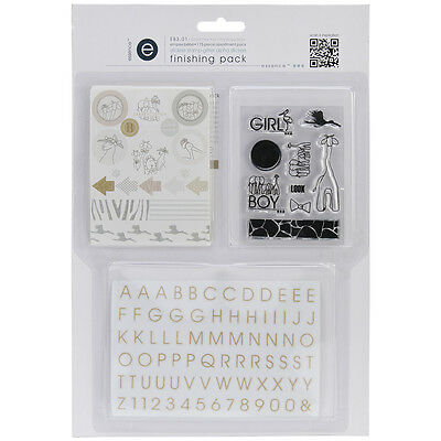 Empire Bebe Finishing Pack-#1 Mini Alpha, Stamp & Glitter Stickers