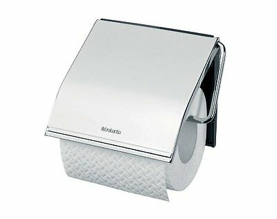 New Brabantia Toilet Roll Holder Bright Brilliant Steel 10 Year Guarantee 414589