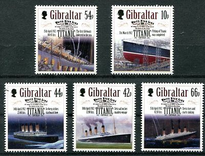 Gibraltar 2012 Sinking Of The Titanic Centenary - Ships Mint Complete Set Of 5!