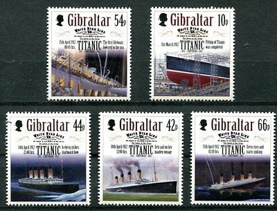 Gibraltar 2012 Titanic Sinking Centenary - Ships Mint Complete Set Of 5 Stamps!