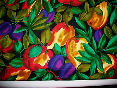 Plums, Pears & Apples Cotton Quilt Fabric