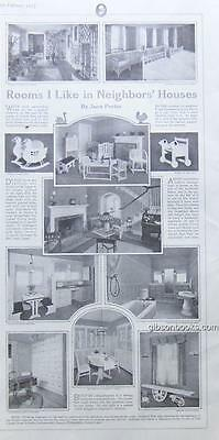 1917 LHJ Rooms I Like in Neighbors' Houses Magazine Page by Jane Porter