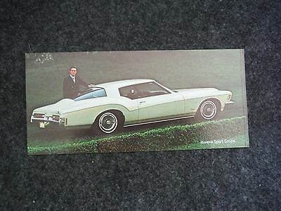 1972 General Motors Buick Riviera Custom Sport Coupe Advertising Sales Flyer