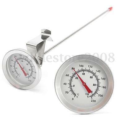 12'' 30cm Long Probe Stainless Steel Sugar Jam Home Brew Thermometer Side Clip