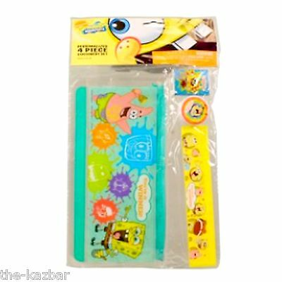 stationary set Spongebob Square Pants pencil case ruler rubber eraser sharpener