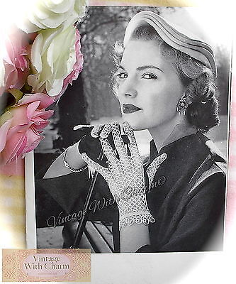 Vintage Tatting Pattern Exquisite Gloves With Tatted Backs JUST £2.49  NO UK P&P