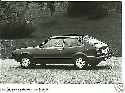 Honda Accord 1600 Coupe 1978 Original Press Photograph Mint Condition Side View