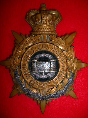 The Dorsetshire Regiment Officer's Victorian QVC Helmet Plate