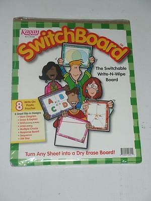 KAGAN Switch Board 8-Pack - The Switchable Write-N-Wipe Board Teacher's tool NEW