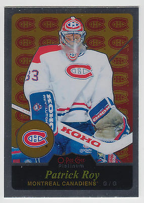 PATRICK ROY 2015-16 O-Pee-Chee Platinum Hockey Retro #R16 Canadiens