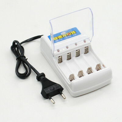 AC 220V 4 Port Rechargeable Battery Charger Dock EU Plug For AA/AAA Battery