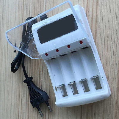 Hot Sale AAA/AA Rechargeable Battery Charger AC 220V EU Plug 4-Ports AC 220V