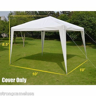 10' x 10'  Strongcamel Canopy Gazebo Replacement PE Top Cover ONLY