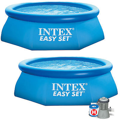 Intex 8ft x 30in Easy Set Inflatable Swimming Pool with or without  pump
