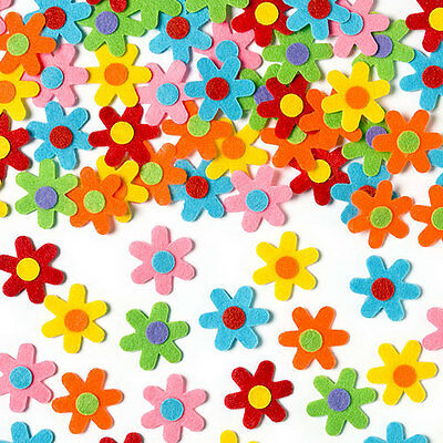 Self-Adhesive Felt Flowers for Kid's Collage, Crafts & Card Making (Pack of 60)