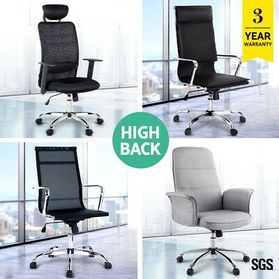 Artiss Executive Office Chairs Computer Desk Seating PU Leather Mesh High Back