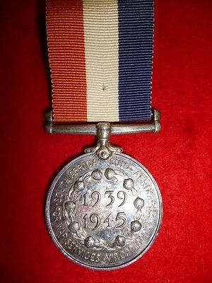 WW2 - South Africa Medal for War Services, 1939-1945, un-named