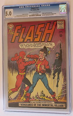 FLASH #137 GA 1st SA Johnny Thunder, JSA Cameo & VANDAL SAVAGE 1963 CGC VGFN 5.0