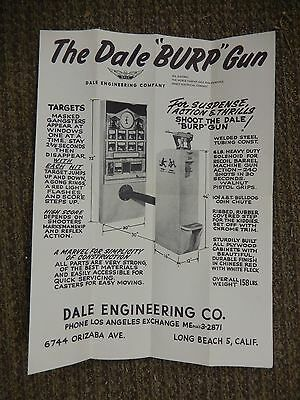 "The Dale ""Burp"" Gun Advertising Poster Dale Engineering Co"