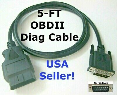 Obd2 Obdii Main Test Data Cable For Autel Mot Pro Eu908 Code Reader