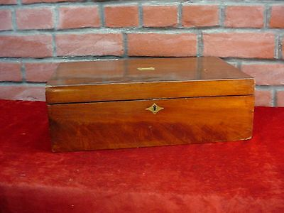 Antique Victorian Wood LAP DESK ~ RESTORABLE FOLDING WRITING DESK or BOX ~