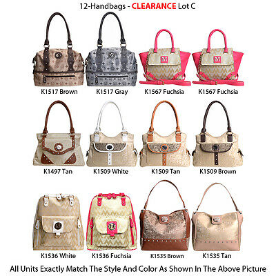 Wholesale Lot - 12 Women's Classic Shoulder Bags - Designer Handbags