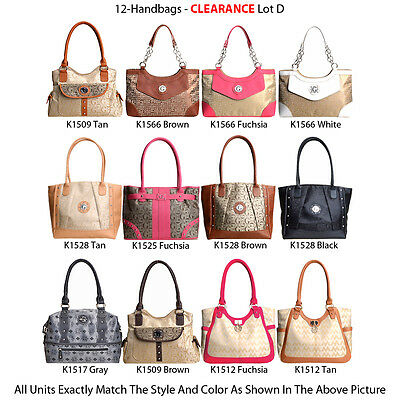 Wholesale Lot - 12 G-Style Women's Tote Bags - Designer Handbags