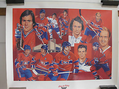 Vintage  Montreal Canadiens Hockey Team Poster  Extremely Rare
