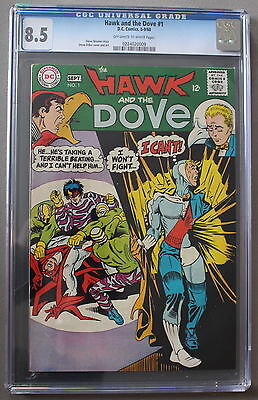 HAWK and DOVE #1 Steve Ditko 1968 TEEN TITANS Members TNT TV Series CGC VF+ 8.5
