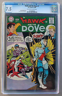 HAWK and DOVE #1 Steve Ditko 1968 TEEN TITANS Members TNT TV Series CGC VF- 7.5