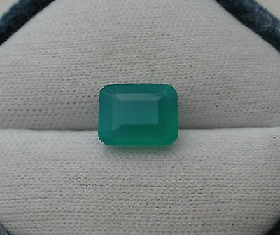 Green Agate Octagon Loose Natural Gem 11 x 8.5mm